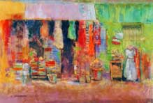 Arlene Shoemaker - Cozumel Shopping - Pastel